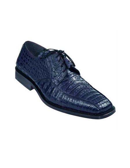 Gator Skin Dress Shoe – Navy Blue