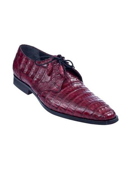 Full Gator Belly Dress Shoe – Burgundy ~ Maroon ~ Wine Color