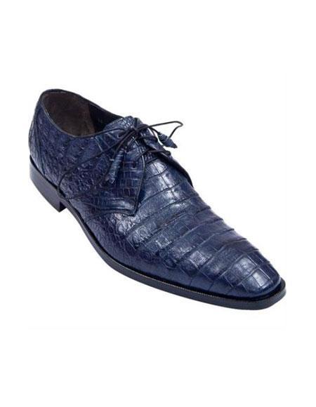 Full Gator Belly Dress Shoe – Navy Blue