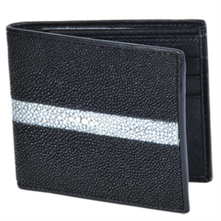MensUSA.com Cartera Mantarraya Perla Pulida Mens Wallet Negro(Exchange only policy) at Sears.com