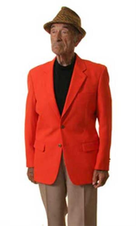 SKU#HL7322  Mens Two Button Blazer orange (Men + Women) $175