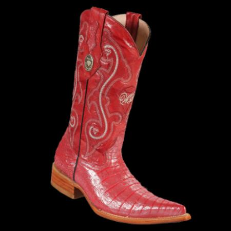 MensUSA.com White Diamonds Boots Crocodile Belly 3x Toe Cowboy Boots Red (Exchange only policy) at Sears.com