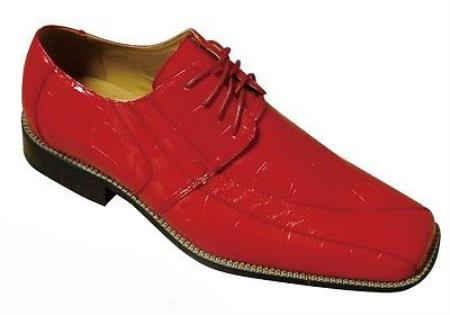 SKU#KA1679 Mens Fashion Oxford Faux Croc-Embossed Leather Dress Shoes $65