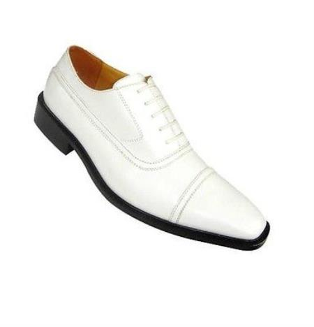 SKU#KA8631 Mens High Quality Fashion Dress Shoes White and Black Colors $65