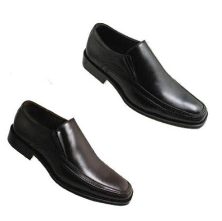 SKU#KA9074 Mens High Quality PU Upper Leather Dress Shoes in Black or Brown $65