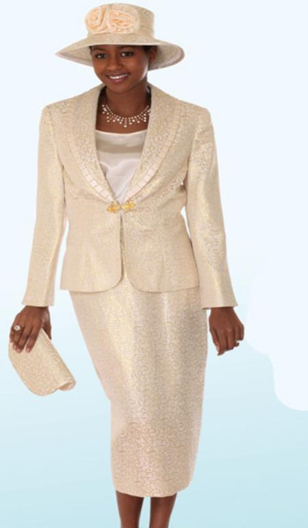 SKU#KA6896 Lynda Couture Promotional Ladies Suits- Gold $139