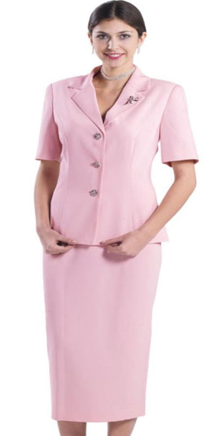 SKU#KA8221 Lynda Couture Promotional Ladies Suits – Pink $139