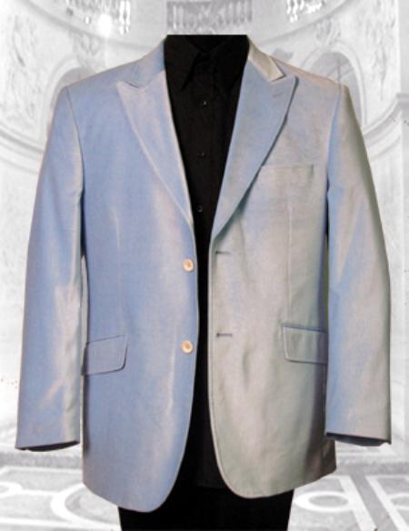 SKU# JJX825 JV-100 GORGEOUS SKY SPORT JACKET ; 2 BUTTON ; SINGLE BREASTED; PEAK COLAR Velvet Fabric $139