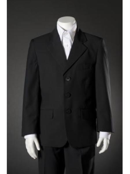 SKU#KA7968 Boys Navy Blue HULight Blue ~ Sky 5 Piece Suit $79