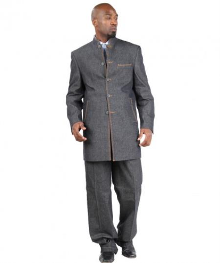 Denim Suit Five Button