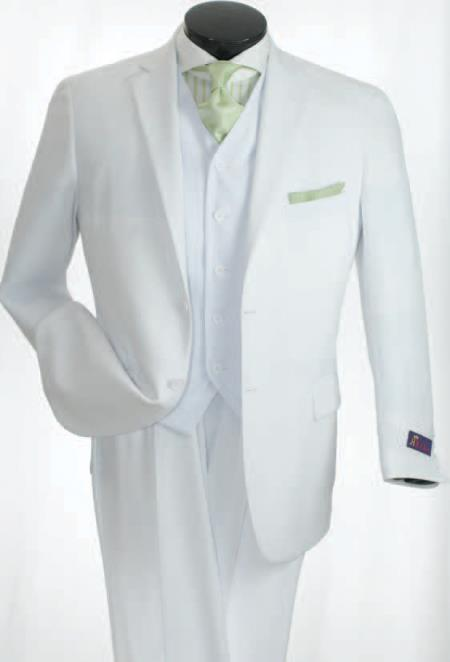 2Button Classic White Suits