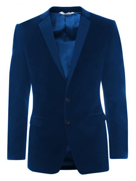 SKU#KA5521 Velveteen Dinner Sport Coat 2 Button Tuxedo Jacket & Blazer - Navy ~ Midnight blue $499