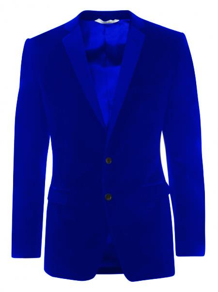 SKU#KA5529 Velveteen Dinner Sport Coat 2 Button Tuxedo Jacket & Blazer - Dark Blue $499