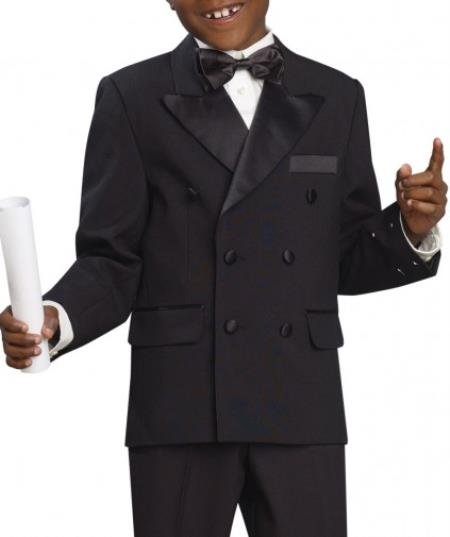 SKU#KA8547 Four button Boys Tuxedo Suit