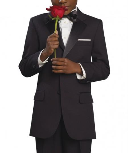 SKU#KA7547 Two 2 button Boys Tuxedo Suit
