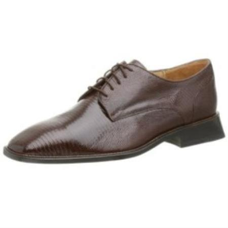 SKU# MWA898 Belvedere-Olivo-genuine lizard upper fully leather-lined interior cushioned $273