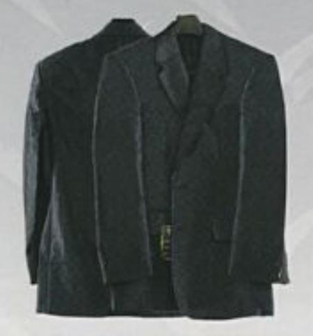 SKU#KA4347 Mens Western Suits-Black