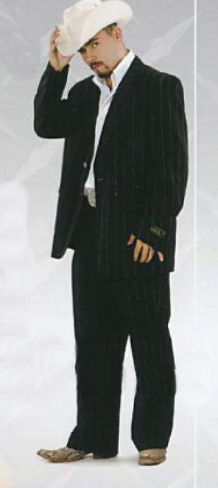 SKU#KA5547 Mens Western Suits Black-negro $139