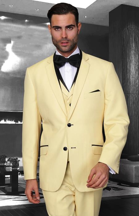SKU#PN-22 Affordable Discounted clearance sale 3 Piece Modern Fit Suit In Pastel Colors $189
