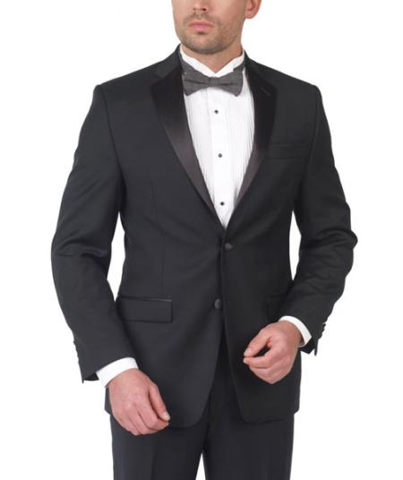 SKU#PN-36 Lauren By Ralph Lauren Wool Tuxedo Two Button with Flat Front $275