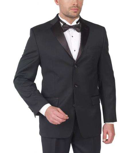 Lauren By Ralph Lauren Wool Tuxedo Three Button with Double Pleat $275.00 AT vintagedancer.com