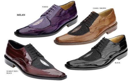 Belvedere Mens Shoes Available Colors In Purple, Camel/Brown, Scarlet Red/Black And Black