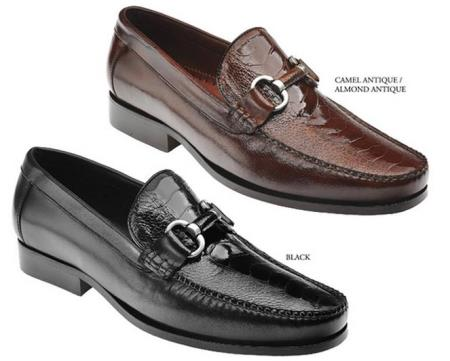 MensUSA.com Belvedere Mens Shoes Available Colors In Black And Almond Antique at Sears.com