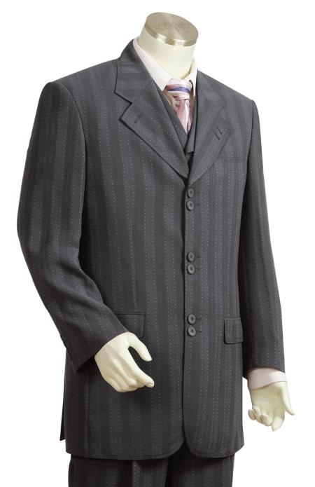 New 1940's Style Zoot Suits for Sale Men s 3 Piece Fashion Suit Charcoal $225.00 AT vintagedancer.com
