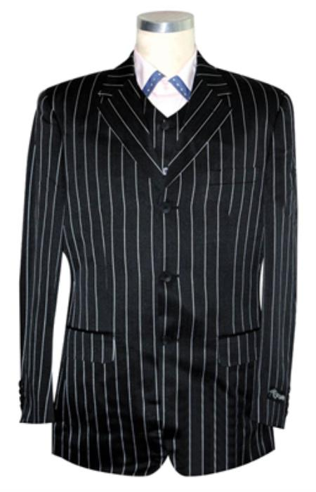 white pinstriped suit