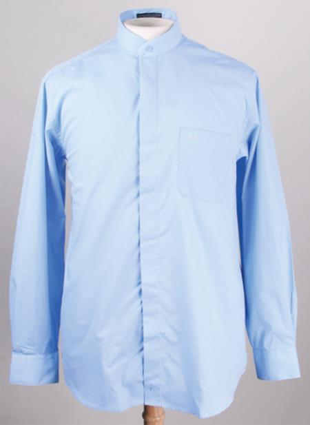 Sku pn j54 men 39 s banded collar dress shirts without collars for Men s collarless banded collar dress shirt
