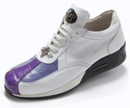 Crocodile Purple Amethyst Sneakers