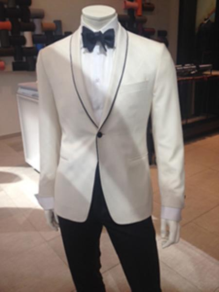 white formal sport coat