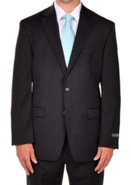 SKU#PN80 Ralph Lauren Black Pinstripe Dress Suit Separates