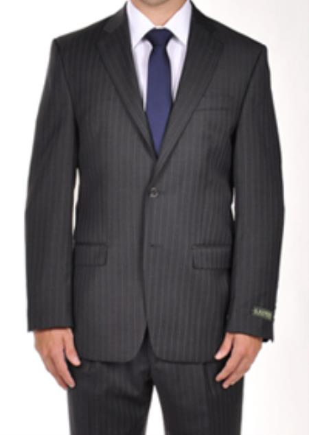 SKU#PN84 Ralph Lauren Grey Pinstripe Dress Suit