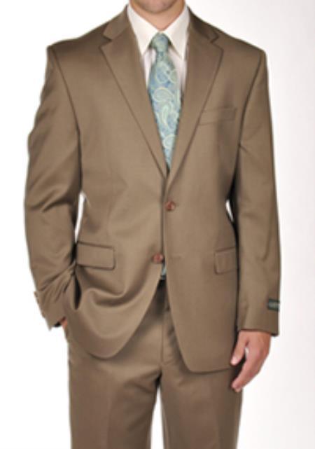 SKU#PND42 Ralph Lauren Tan ~ Beige Dress Suit Separates