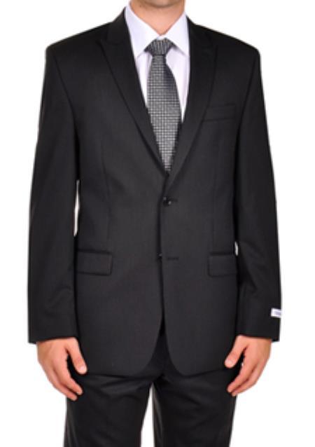 SKU#AB109 Calvin Klein Black Stripe ~ Pinstripe Dress Suit Seperates