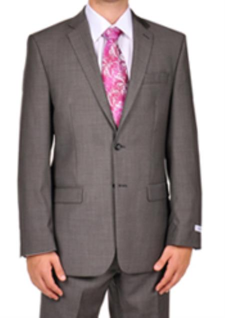 SKU#PNG51 Calvin Klein Charcoal Pindot Dress Suit Separates $250