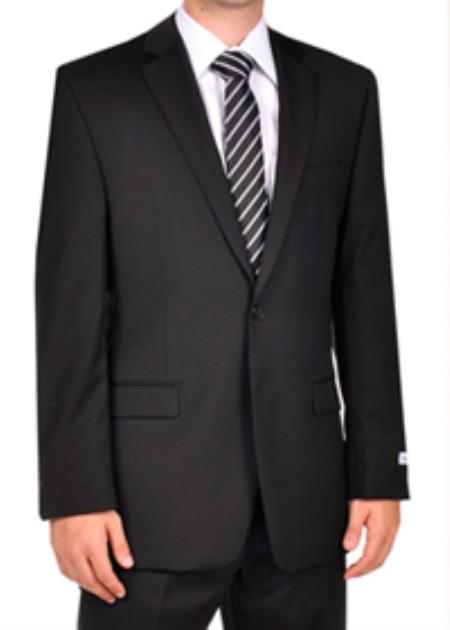 SKU#PN_F52 Calvin Klein Extreme Slim Fit Black Dress Suit $250