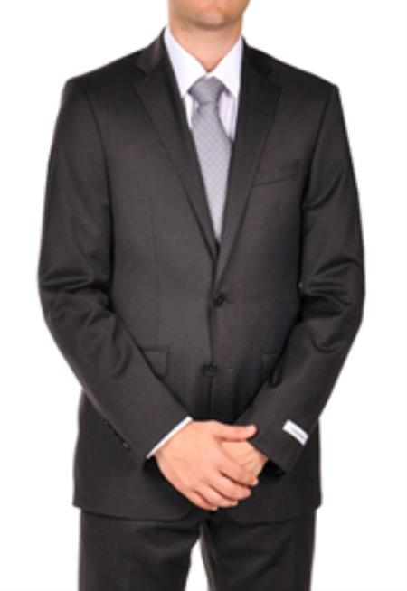 SKU#PN-U53 Calvin Klein Extreme Slim Fit Charcoal Dress Suit $250