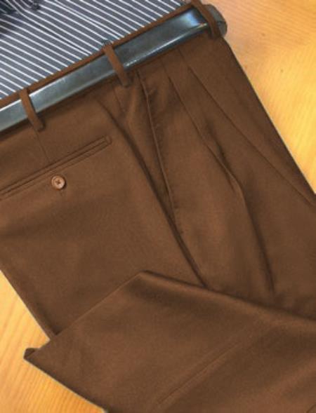 Chiari-Natural-Stretch-Wool-Italian-Dress-Slacks-Brown