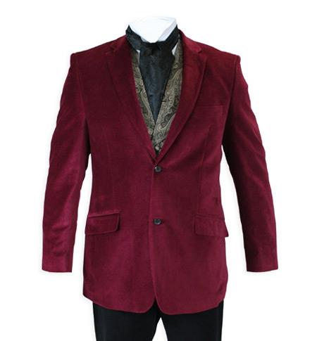 Velvet Smoking Jacket Burgundy