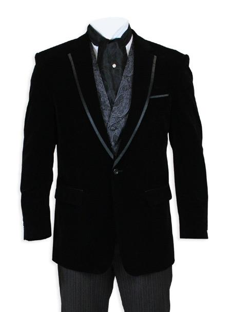 Velvet Smoking Jacket Black