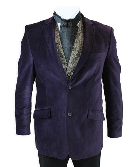 Velvet Smoking Jacket Plum