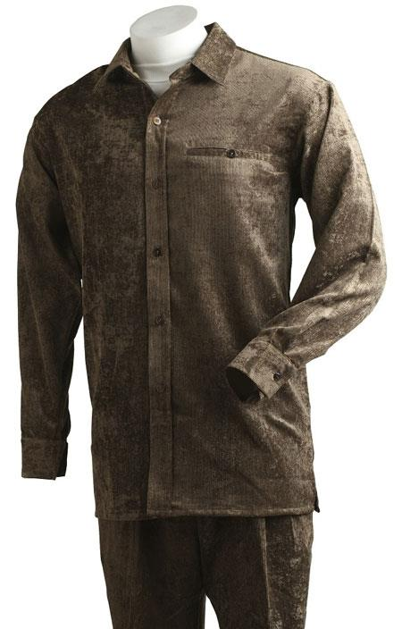 Mens Brown Velvet Corduroy