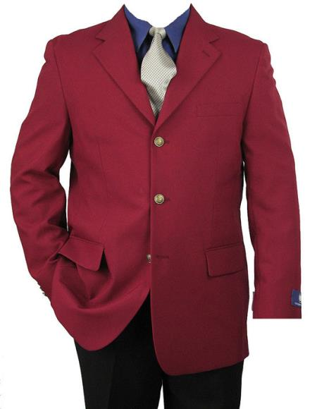 3 Button Blazer Burgundy