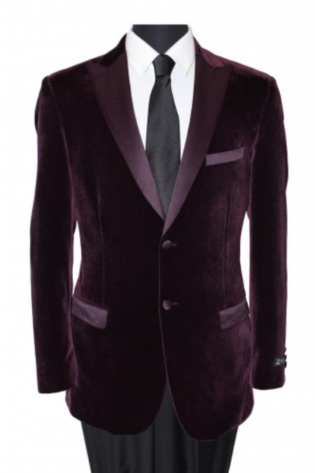 Sport Coat With Satin Lapel