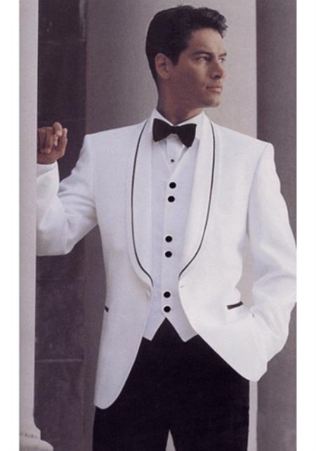 white one button jacket