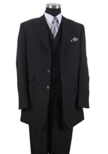 3 Button Peak Lapel