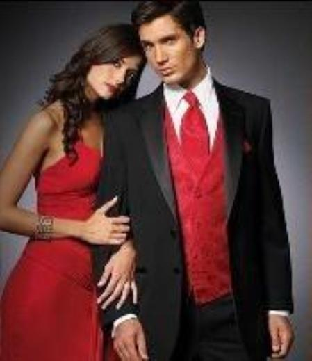 Fitted Slim Fitc Cut Designer 2 Button Notch Tuxedo With Flat Front Pants $299