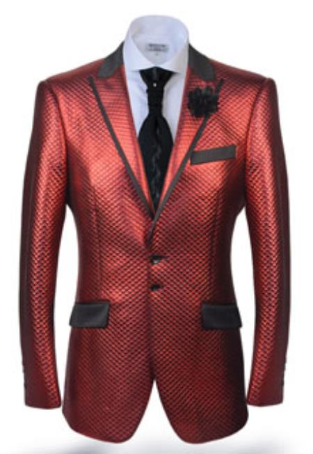Mens Burgundy Blazer